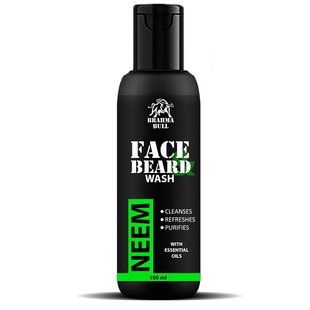 Neem Face & Beard Wash - Brahma Bull - Men's Grooming