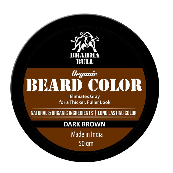 Organic Beard Color (Dark Brown) - Brahma Bull