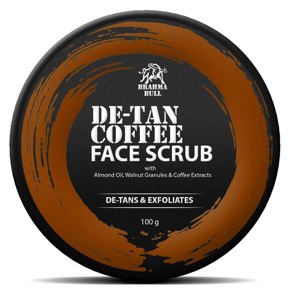 De-Tan Coffee Face Scrub - Brahma Bull