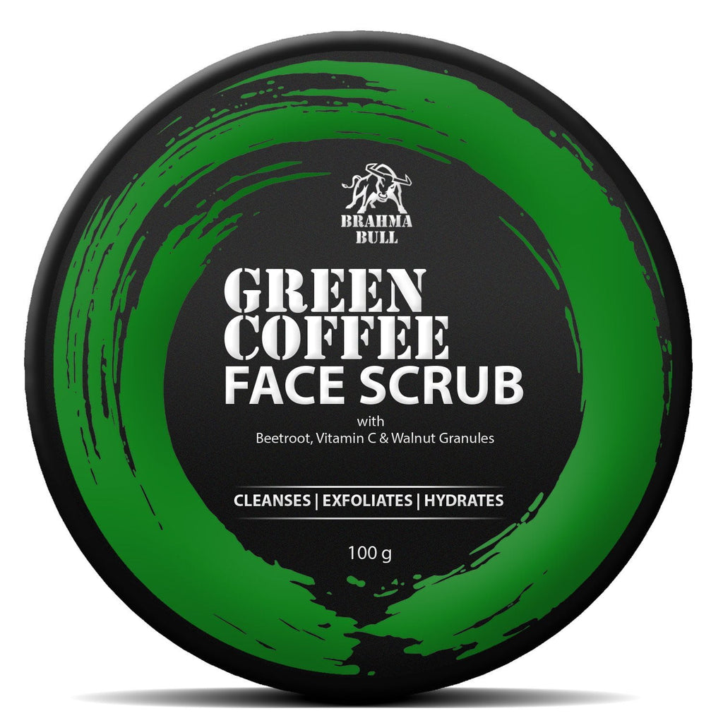 Green Coffee Face Scrub & Serum Combo - Brahma Bull - Men's Grooming