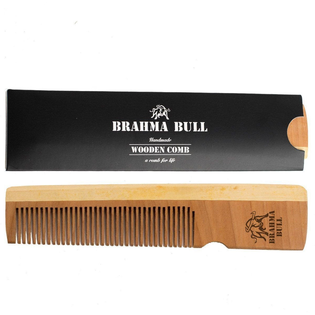 Wooden Beard Comb (Pack of 2) - Brahma Bull - Men's Grooming