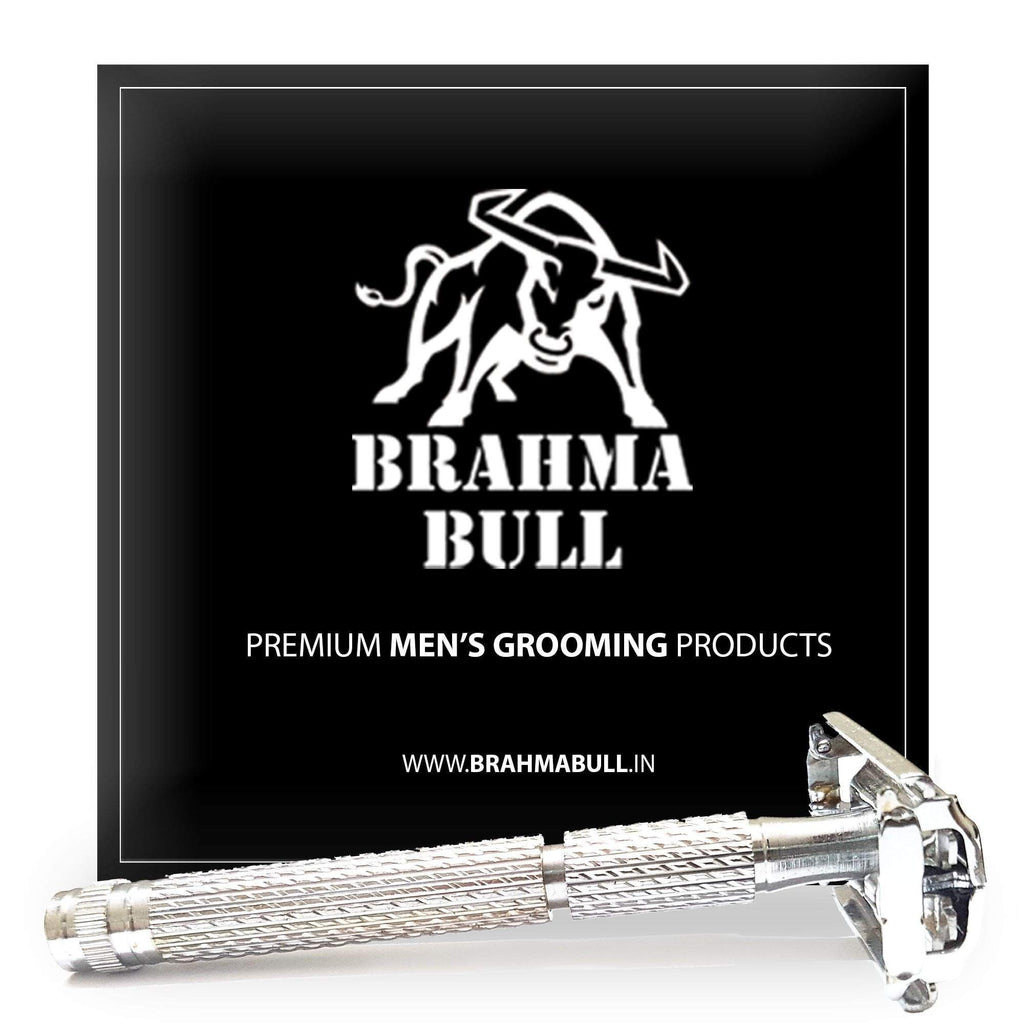 Double Edge Brass Safety Razor - Brahma Bull