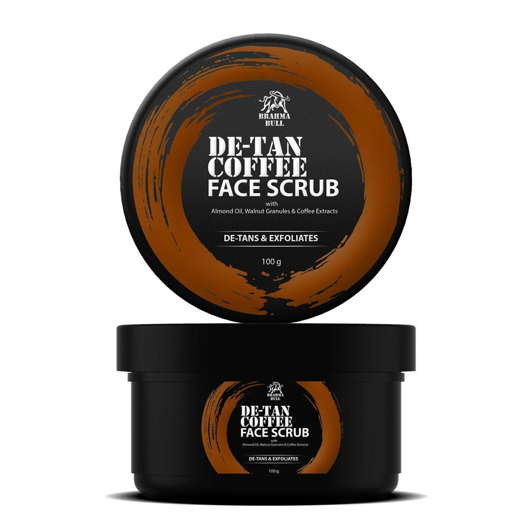 De-Tan Coffee Face Scrub - Brahma Bull - Men's Grooming
