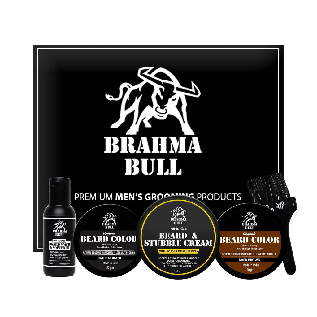 Old School Beard Set - Brahma Bull - Men's Grooming