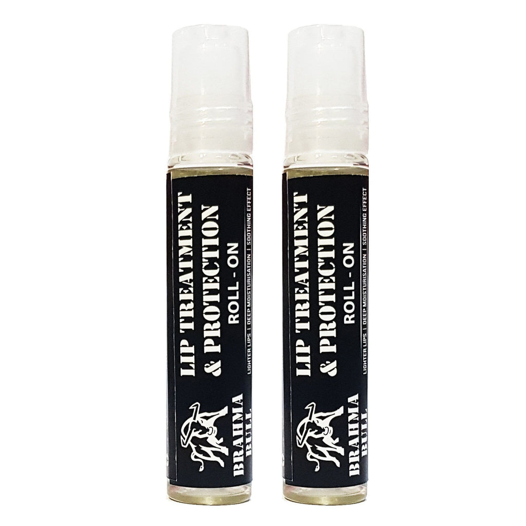 Lip Treatment & Protection Roll On (Pack of 2) - Brahma Bull - Men's Grooming