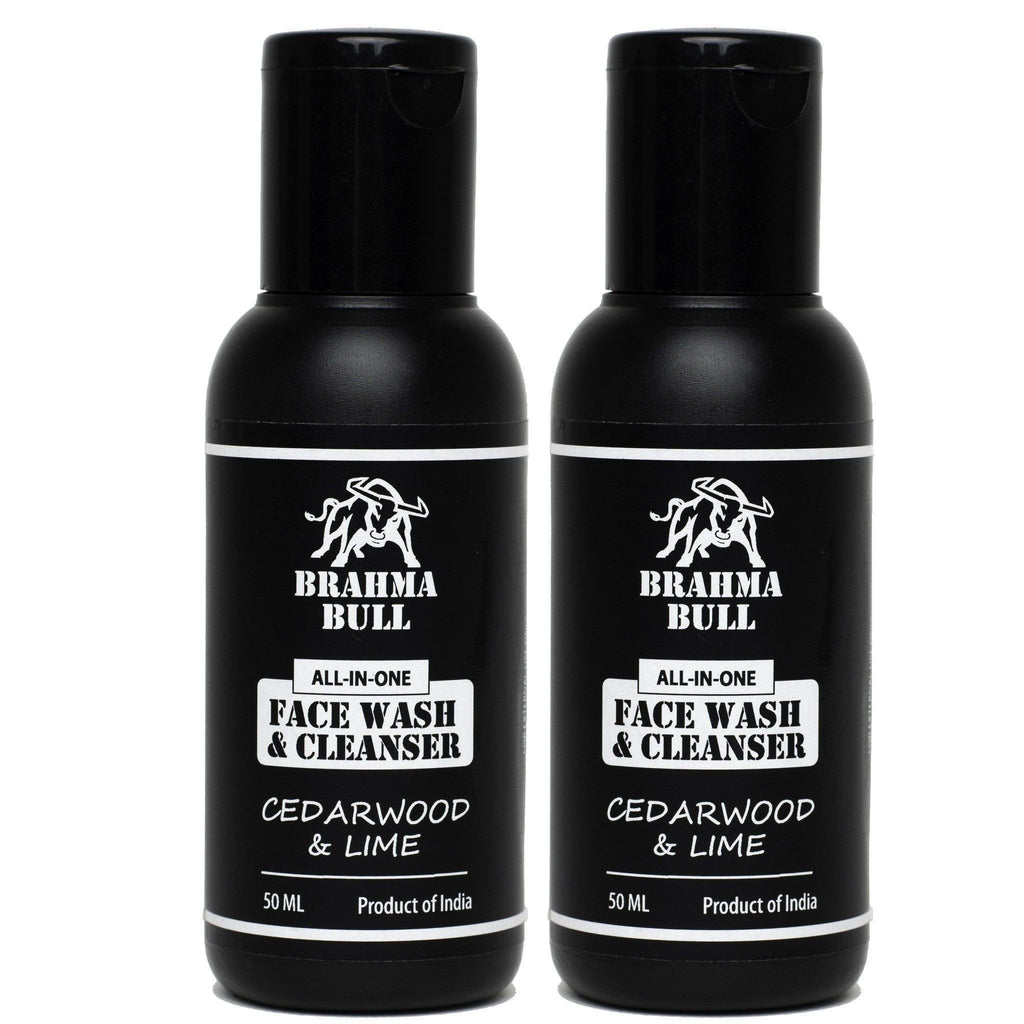 Face Wash & Cleanser (Pack of 2) - Brahma Bull - Men's Grooming
