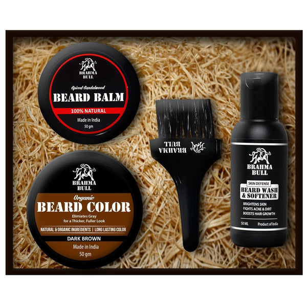 Brown Beard Color Kit - Brahma Bull