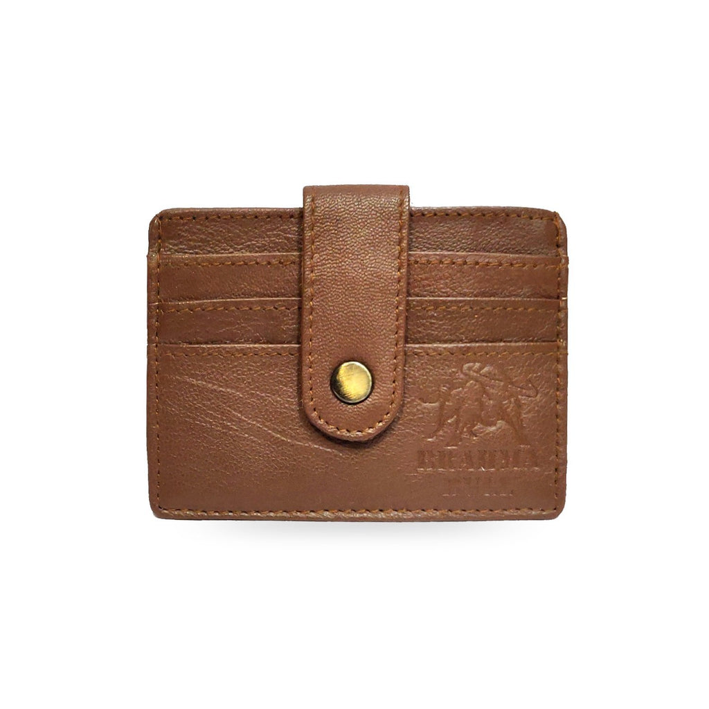 Brahma Bull 5 Pocket Card Holder - Brown - Brahma Bull