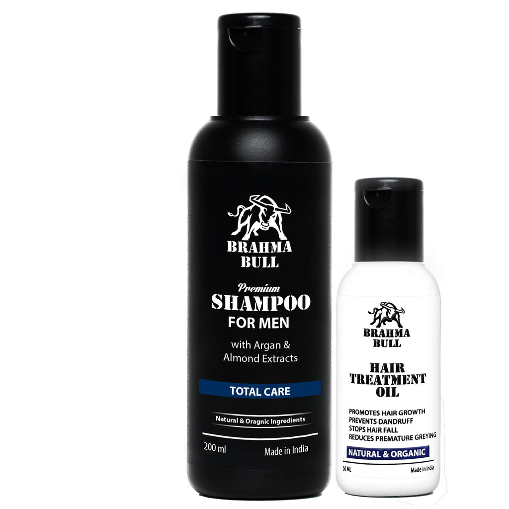 Hair Treatment Combo (Oil + Shampoo) - Brahma Bull - Men's Grooming