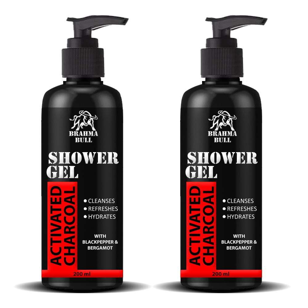 Activated Charcoal Shower Gel (Face, Body & Hair) - Brahma Bull - Men's Grooming