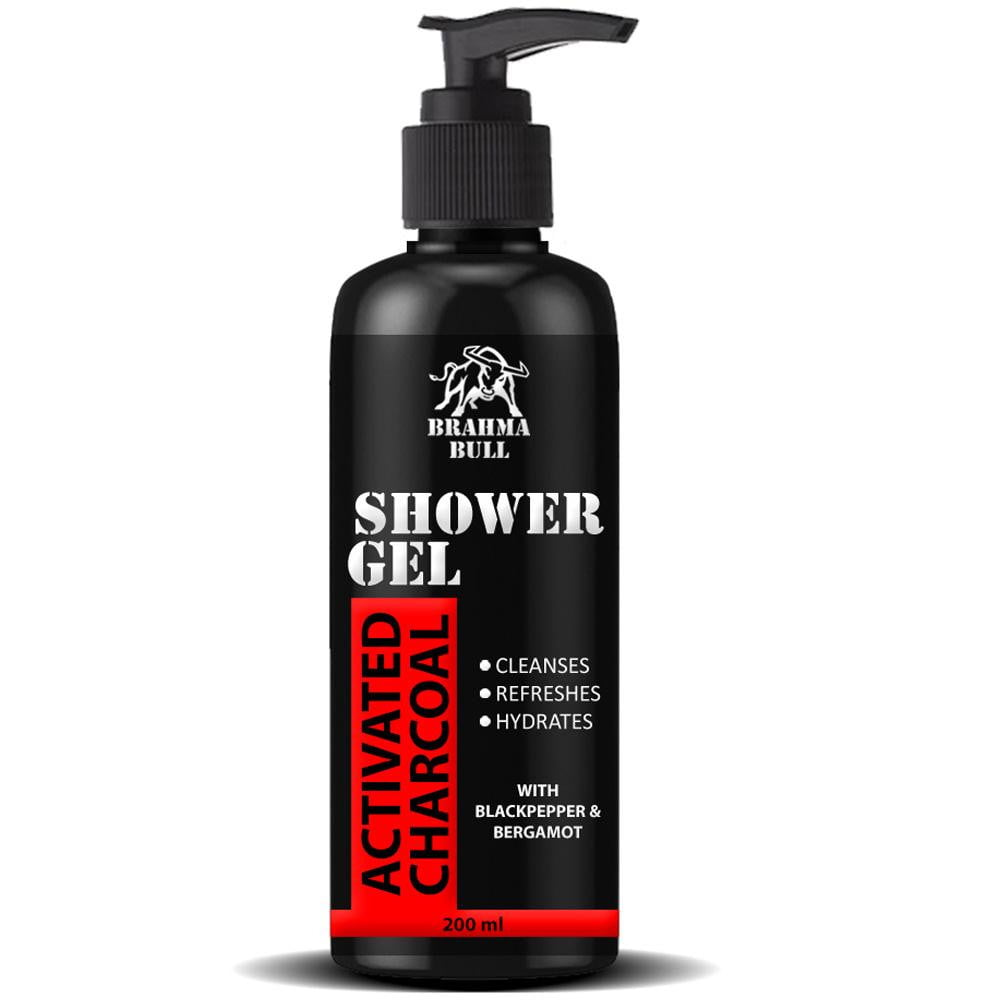 Activated Charcoal Shower Gel (Face, Body & Hair) - Brahma Bull