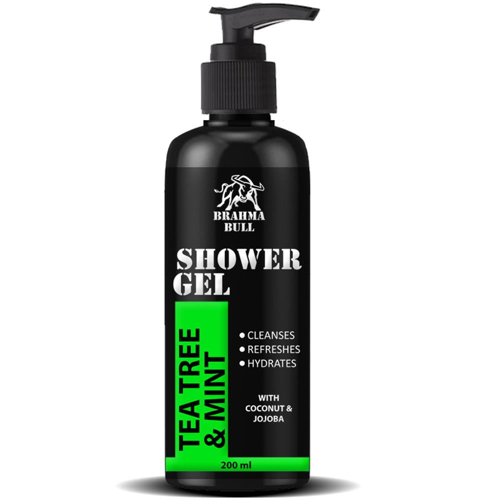 Tea Tree & Mint Shower Gel (Face, Body & Hair) - Brahma Bull - Men's Grooming