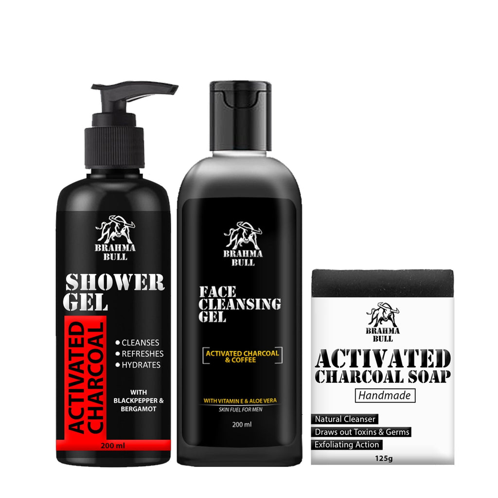Activated Charcoal Trio - Brahma Bull - Men's Grooming