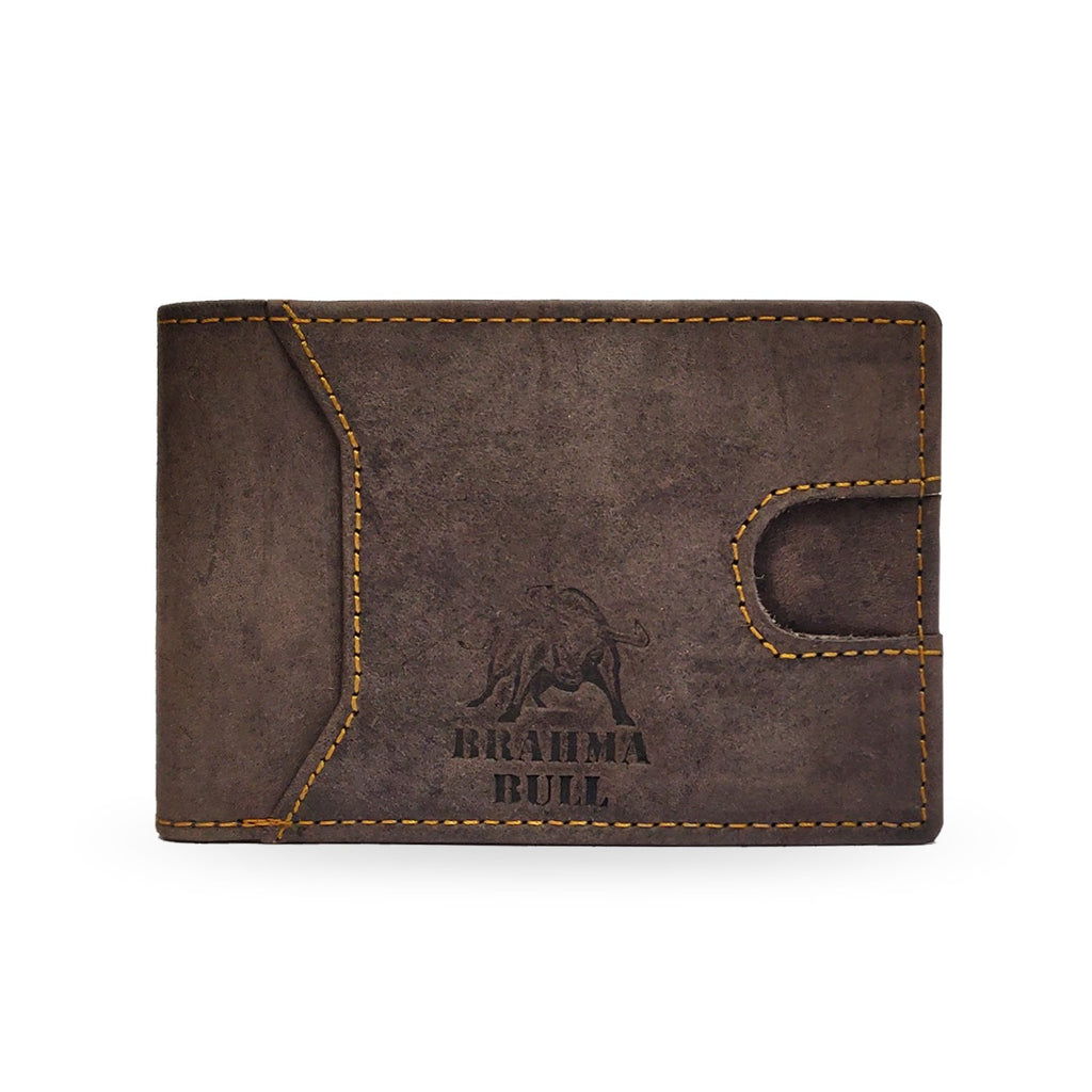 Brahma Bull Slim Edition Multi Purpose Leather Wallet - Brown - Brahma Bull