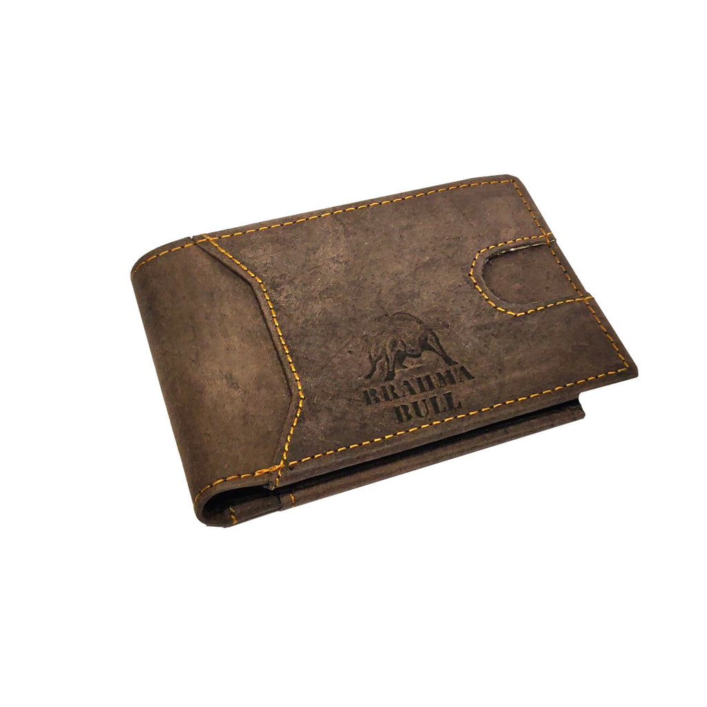 Brahma Bull Slim Edition Multi Purpose Leather Wallet - Brown - Brahma Bull - Men's Grooming