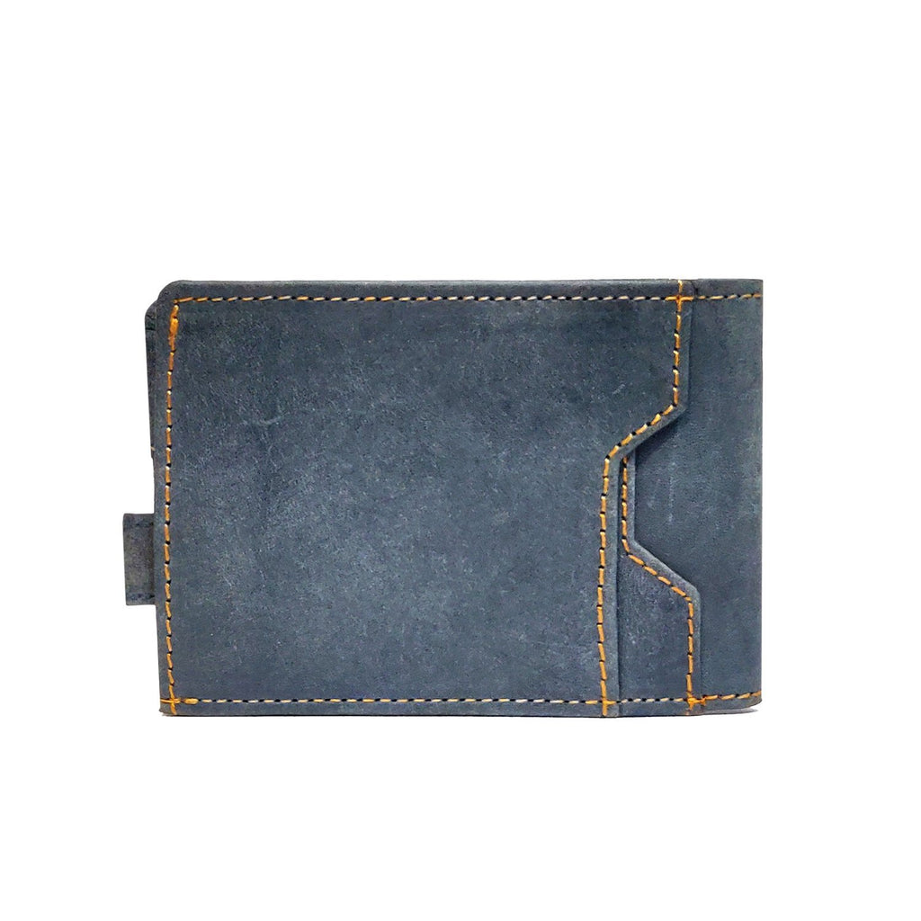 Brahma Bull Slim Edition Multi Purpose Leather Wallet - Navy - Brahma Bull