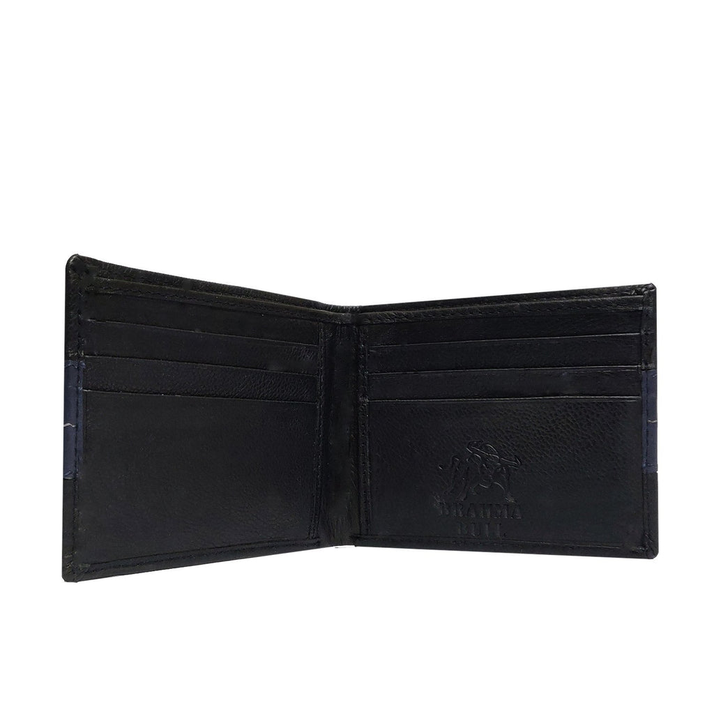 Brahma Bull The OG - Blue Stripe - Black Leather Wallet - Brahma Bull