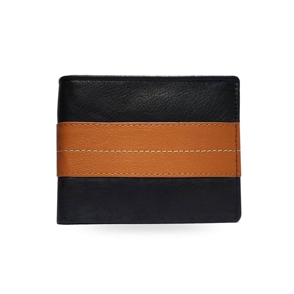 Brahma Bull The OG - Brown Stripe - Black Leather Wallet - Brahma Bull