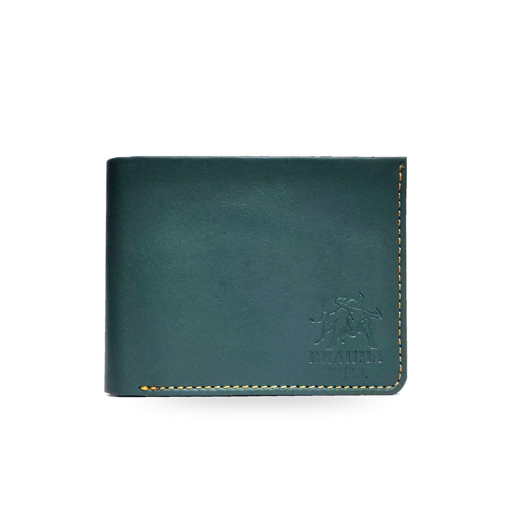 Brahma Bull Hawaiian Soft Leather Wallet -  Bluish Green - Brahma Bull
