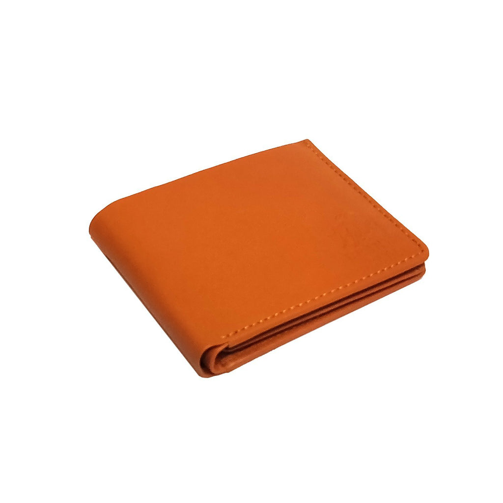 Brahma Bull Hawaiian Soft Leather Wallet - Charismatic Orange - Brahma Bull - Men's Grooming