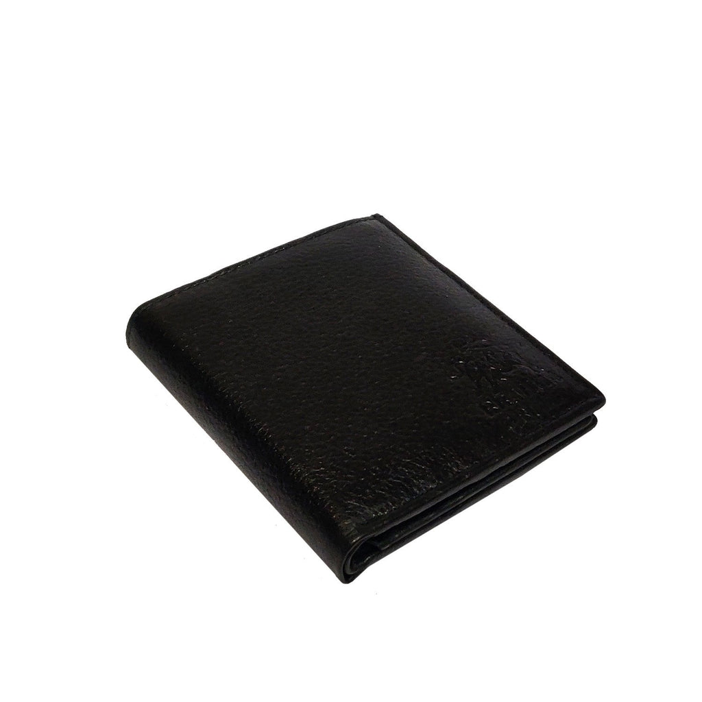Brahma Bull Side Fold RFID Black Leather Wallet - Brahma Bull