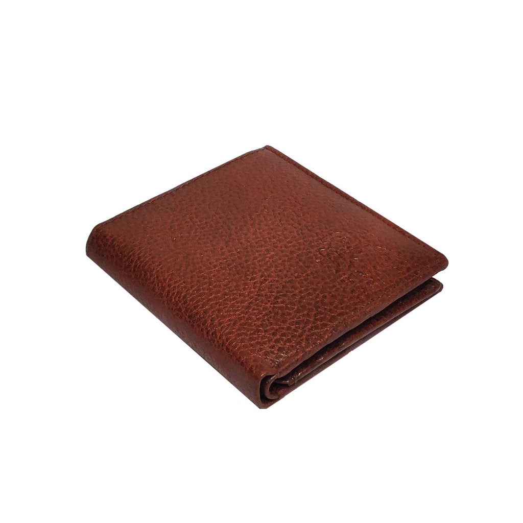 Brahma Bull Side Fold RFID Brown Leather Wallet - Brahma Bull