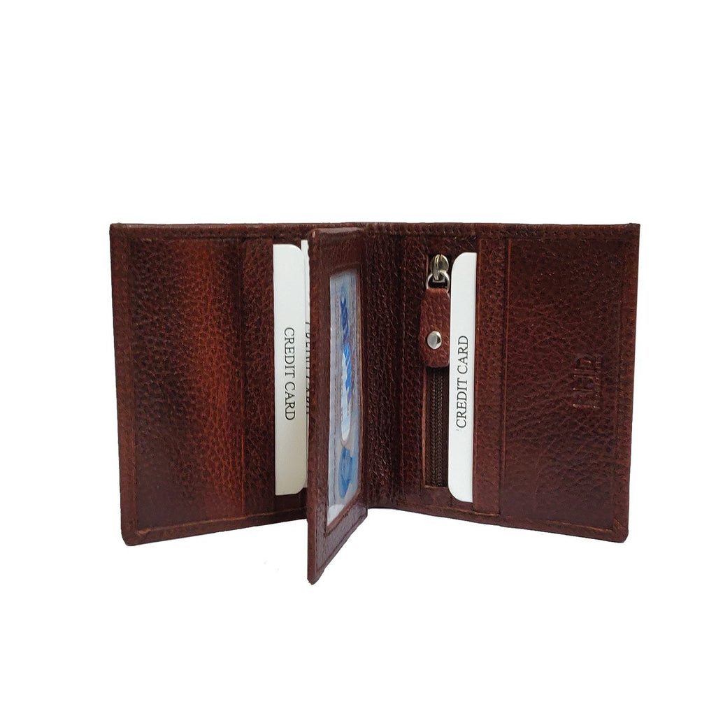 Brahma Bull Side Fold RFID Brown Leather Wallet - Brahma Bull - Men's Grooming