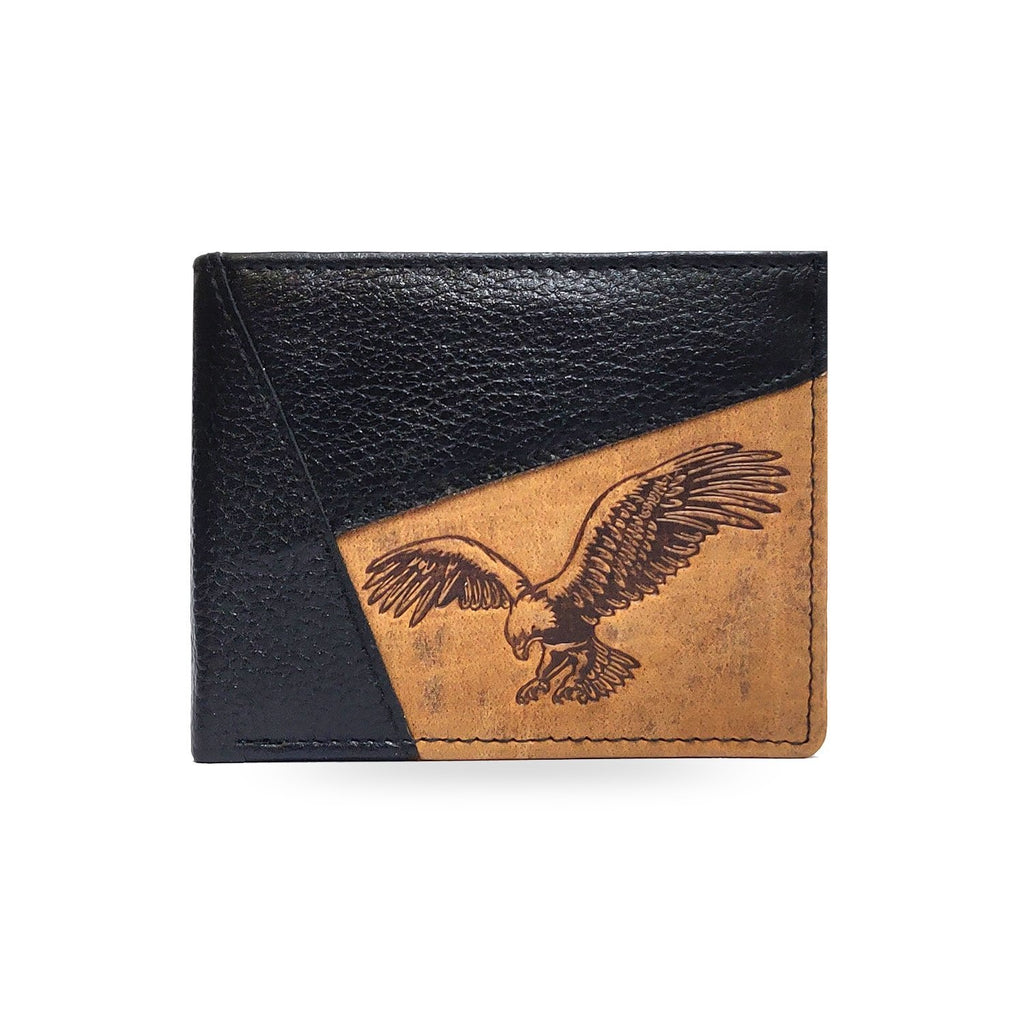 Brahma Bull Eagle Black Leather Wallet - Brahma Bull - Men's Grooming