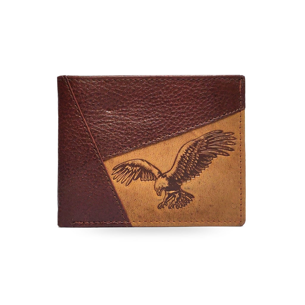 Brahma Bull Eagle Brown Leather Wallet - Brahma Bull