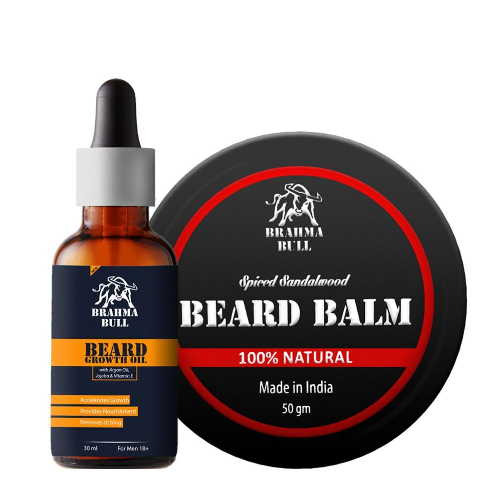 Beard Growth Oil & Beard Balm - Brahma Bull - Men's Grooming