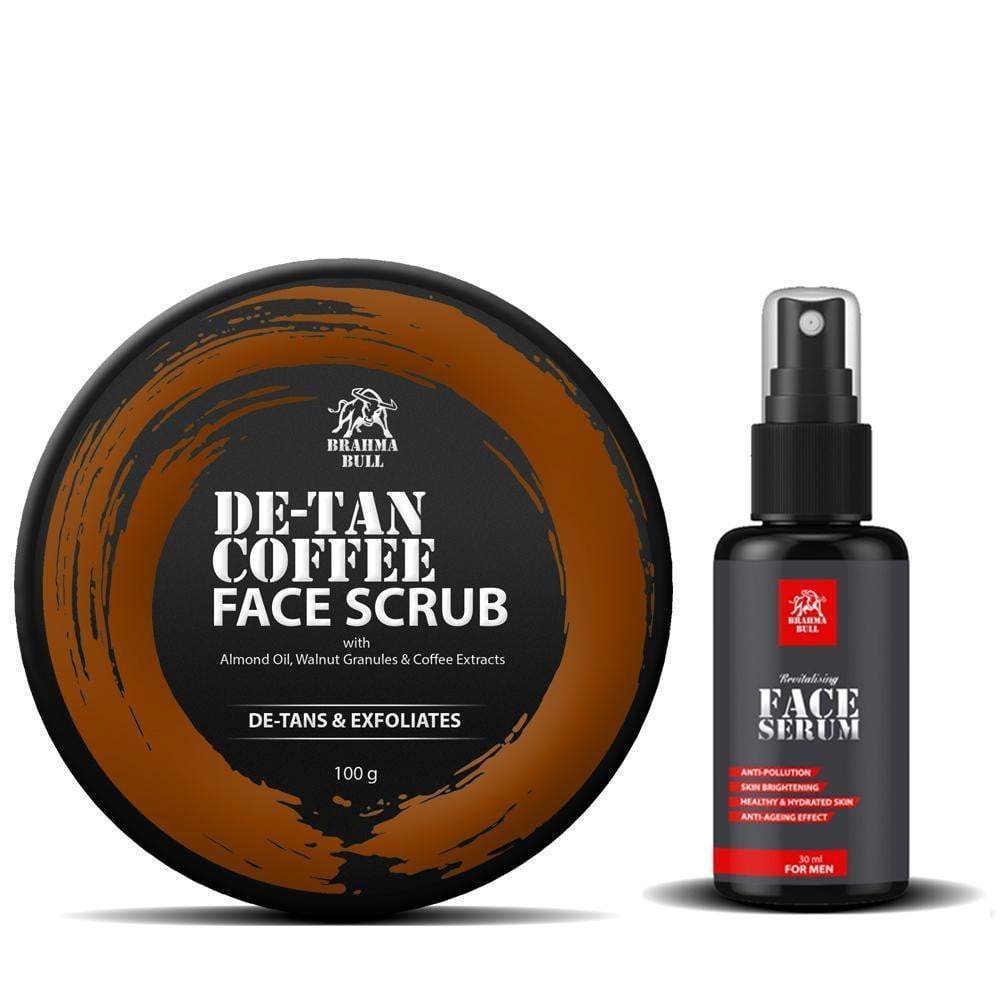 Face Serum & De-Tan Scrub - Brahma Bull - Men's Grooming