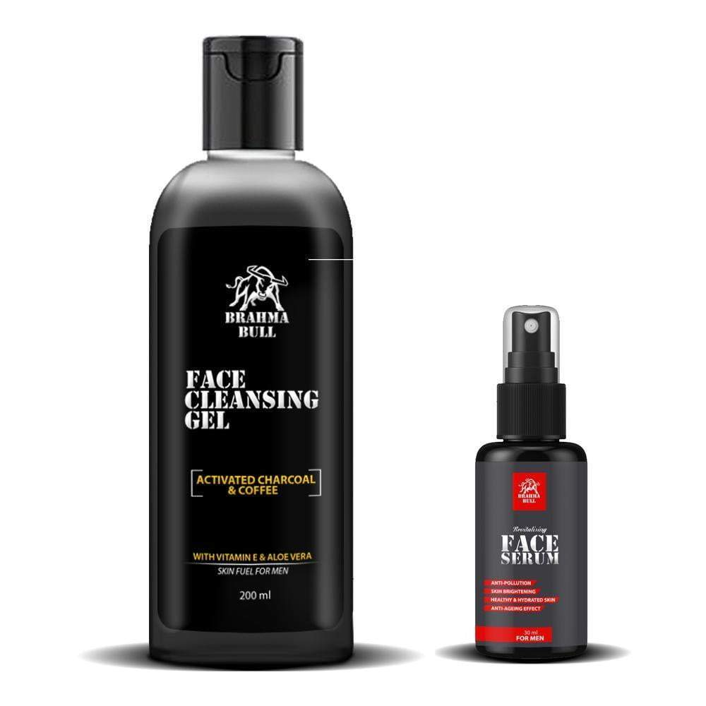 Face Serum & Cleansing Gel - Brahma Bull - Men's Grooming