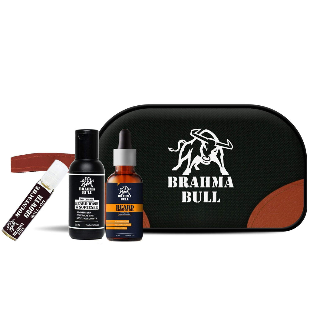 Beard Growth Travel Kit - Brahma Bull - Men's Grooming