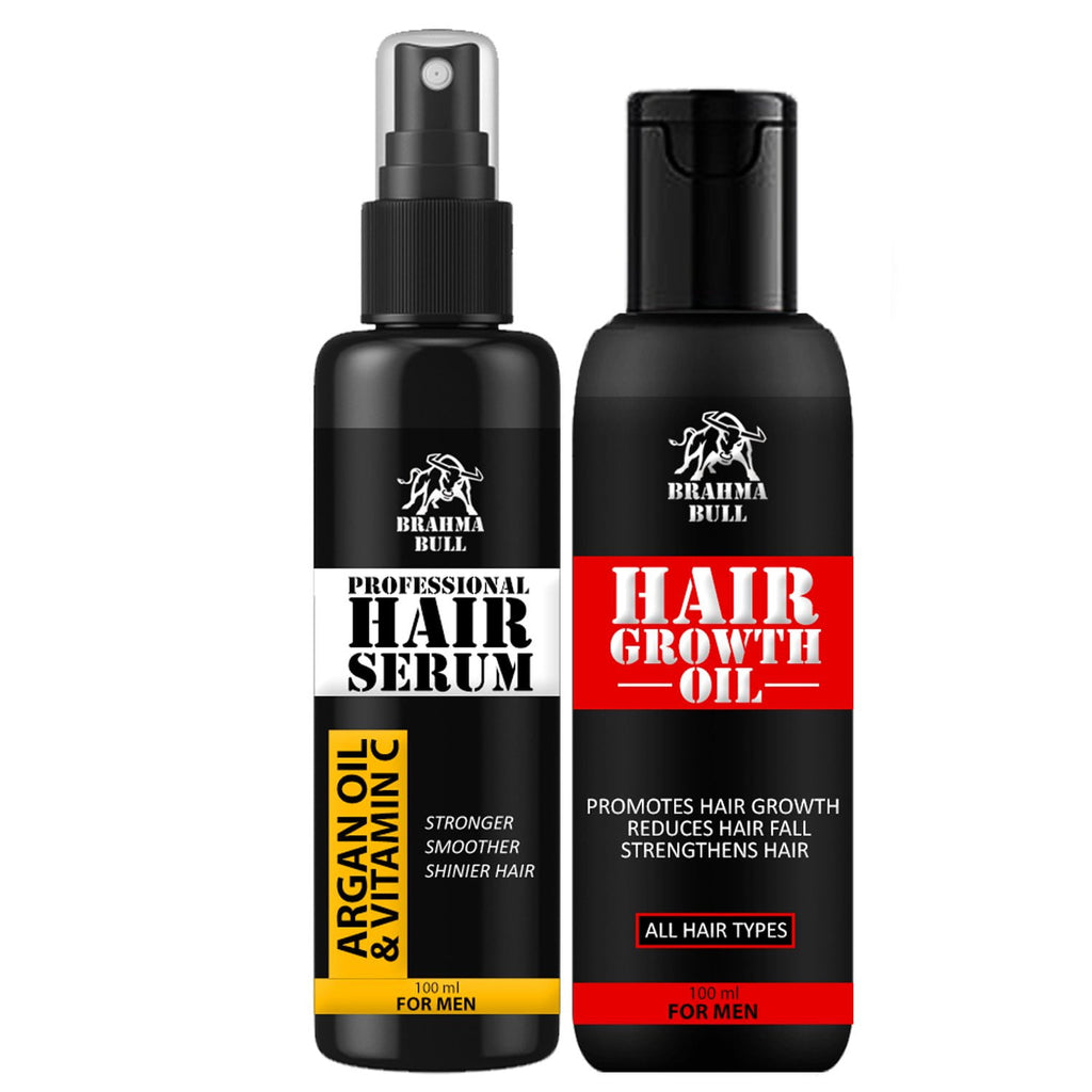 Hair Treatment Oil & Professional Hair Serum - Brahma Bull - Men's Grooming