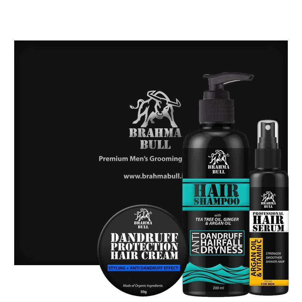 Anti Dandruff & Anti Hairfall Set - Brahma Bull - Men's Grooming