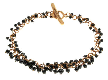 BLACK D - GOLD-BLACK DIAMOND BRACELETS - 18K