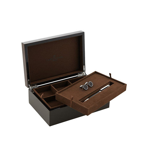 Carbon Fibre Pen and Cufflinks Gift Set