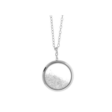 Diamond Dust Silver Necklace