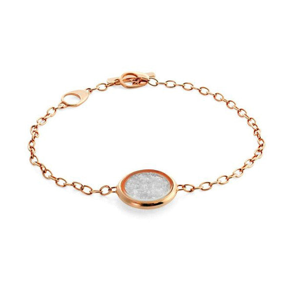 Diamond Dust Silver Bracelet with Rose Gold Finish