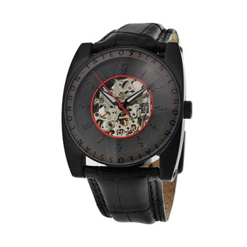 Gulliver Flottante Watch In Ion Plated Matte Black Finish and Red Enamel