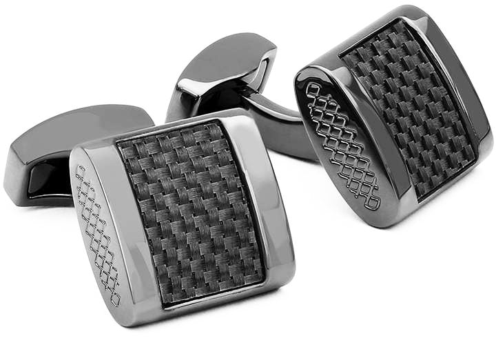 CARBON FREEWAY CUFFLINKS IN BLACK