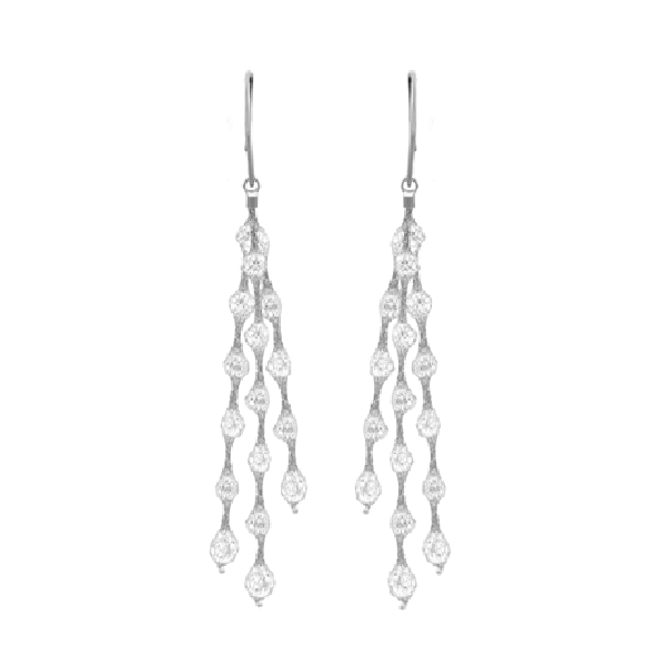 Liquid Diamonds Silver Earrings