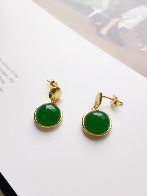 Green land earring