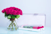10 Bright Pink Letter Box Roses, Long Stem Roses, LetterBox Roses - Crystal Roses London