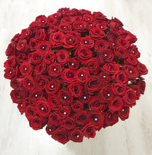 100 Fresh Cut Red Rose Bouquet, Grand Gesture, Valentine's Day roses, Valentine's day, 100 Red Roses, Luxury Red Roses, Red Roses, 100 Roses, 100 Red Roses Delivered  - Crystal Roses London