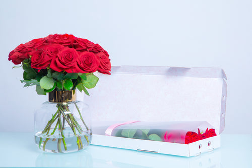 The VALENTINA, Letter Box Roses, Letter Box Gifts, Rose Delivery, Send Roses - Crystal Roses London