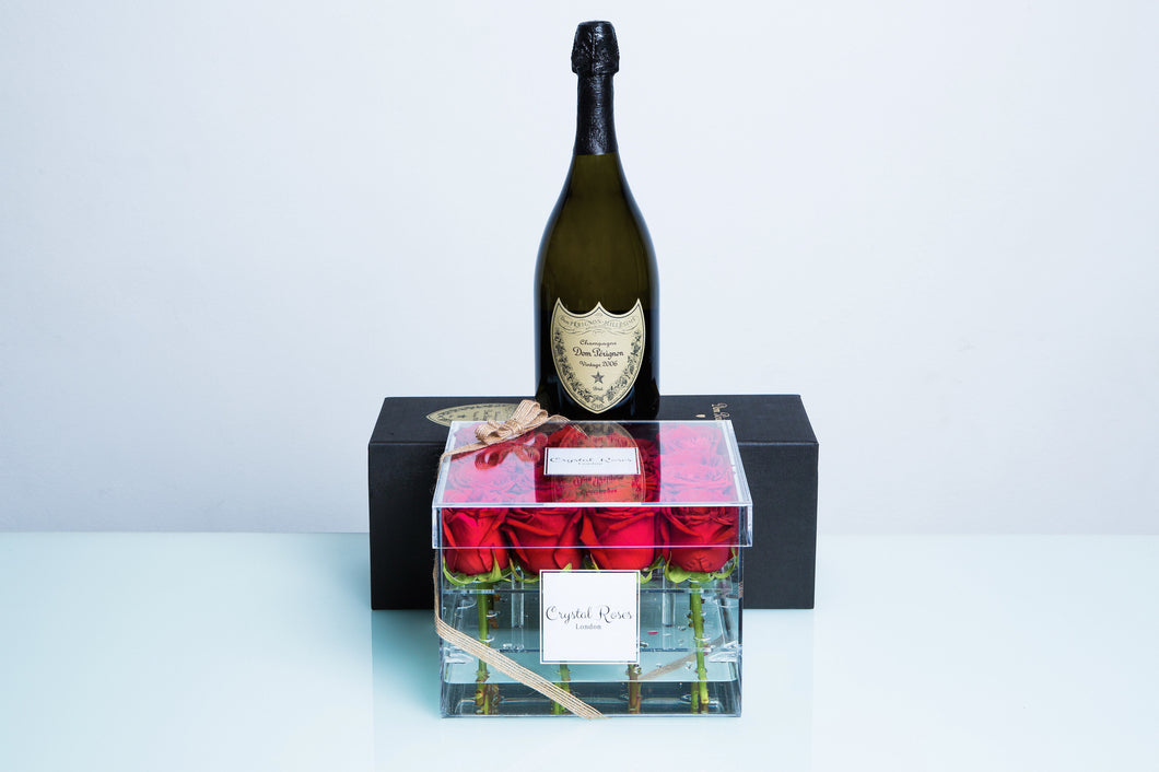 16 Roses - Dom Perignon Vintage - Crystal Roses London