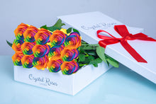 Fresh Cut Rainbow Roses - Gift Box