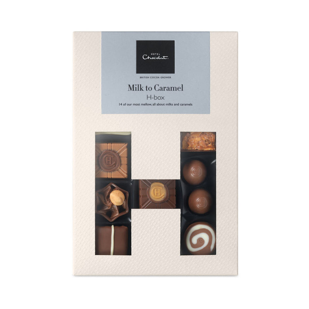 Hotel Chocolat - The Milk to Caramel Selection - Crystal Roses London