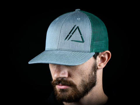 Apex Logo Hat V.2 Green/Gray